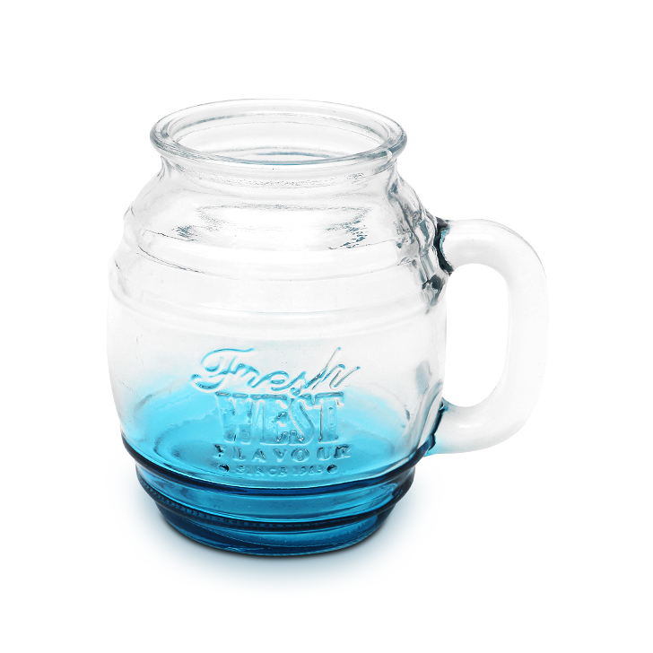 Living Essence Zes Glass Beer Mug Blue 450 ml,Barware