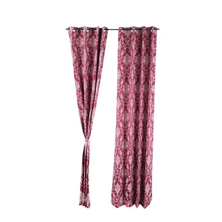 Florina Door Curtain Wine,Curtains