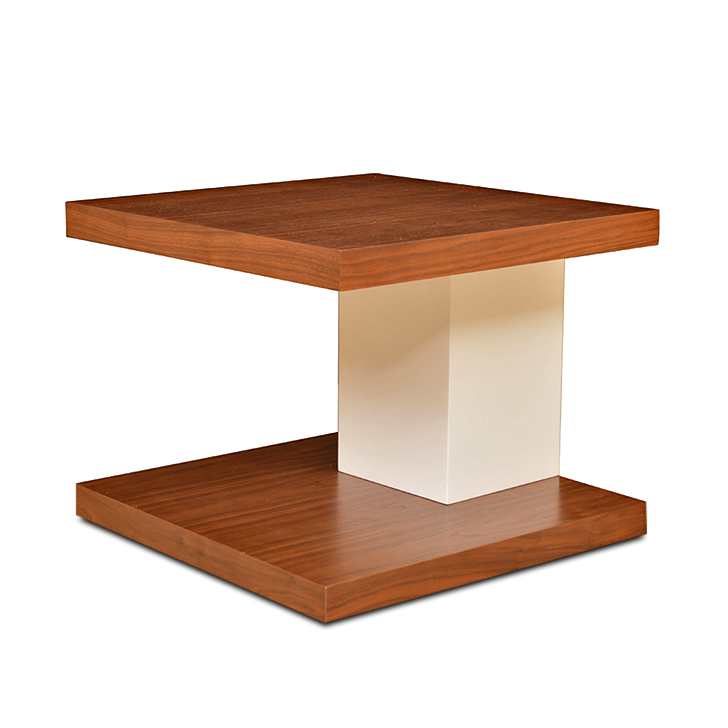 Lara Side Table Walnut And White,HomeTown Best Sellers