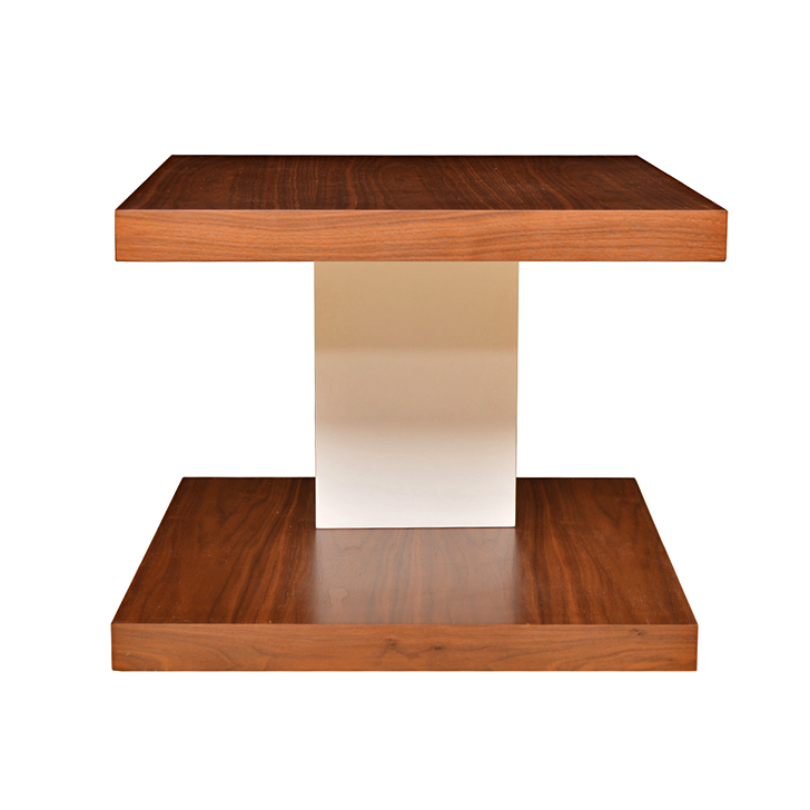 Lara Side Table Walnut And White,Furniture