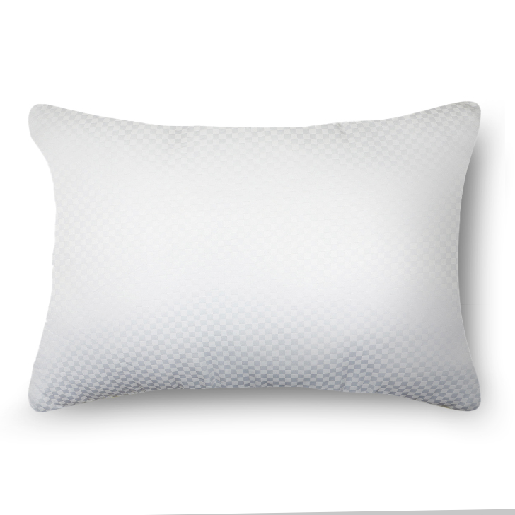 Living Essence Solid Self Design Micro Pitch Pillow White,Home Furnishings