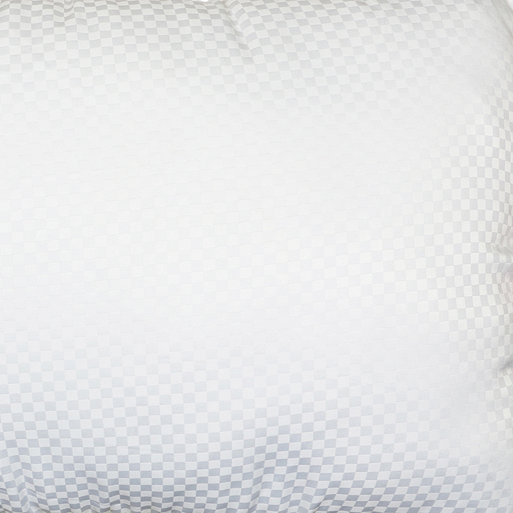 Living Essence Solid Self Design Micro Pitch Pillow White,Bed Pillows