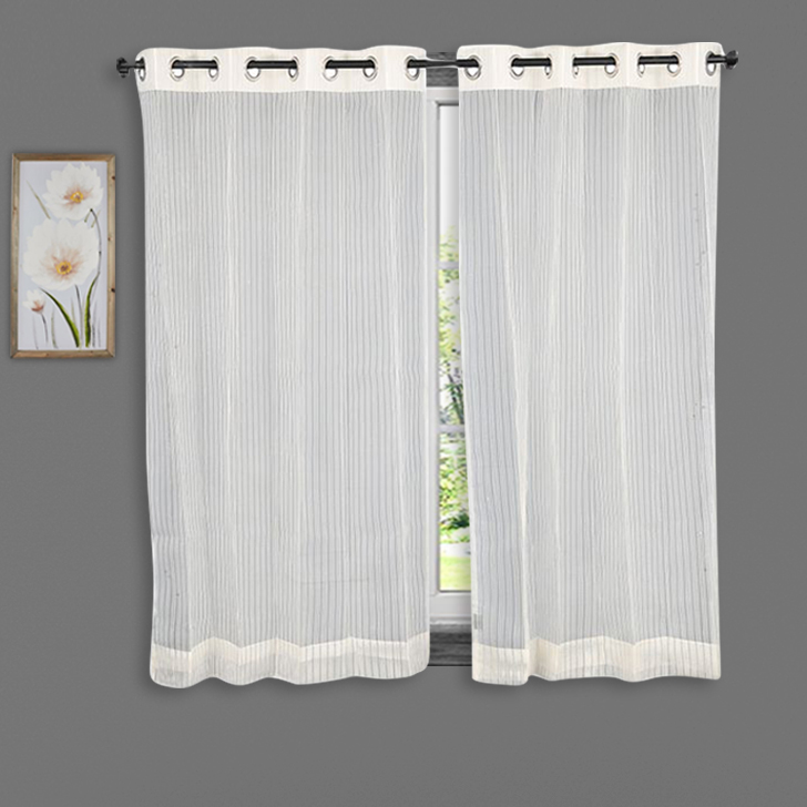 Buy Sheer Window Curtain SIA Off White Online In India
