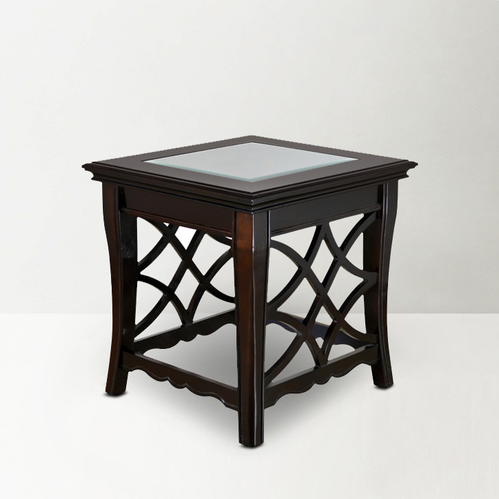 Nina End Table in Brown Finish,Coffee Tables