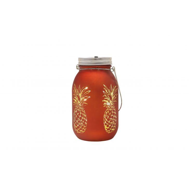 Venus Pineapple Cutout Mason Jar Orange,Lamps & Lighting