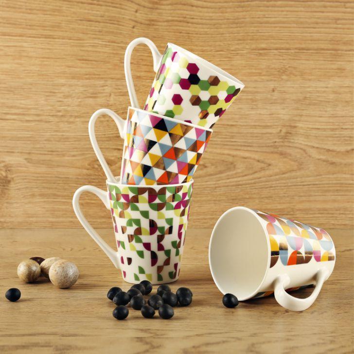 Glamour Gift Mugs Set Of 4,Coffee Mugs