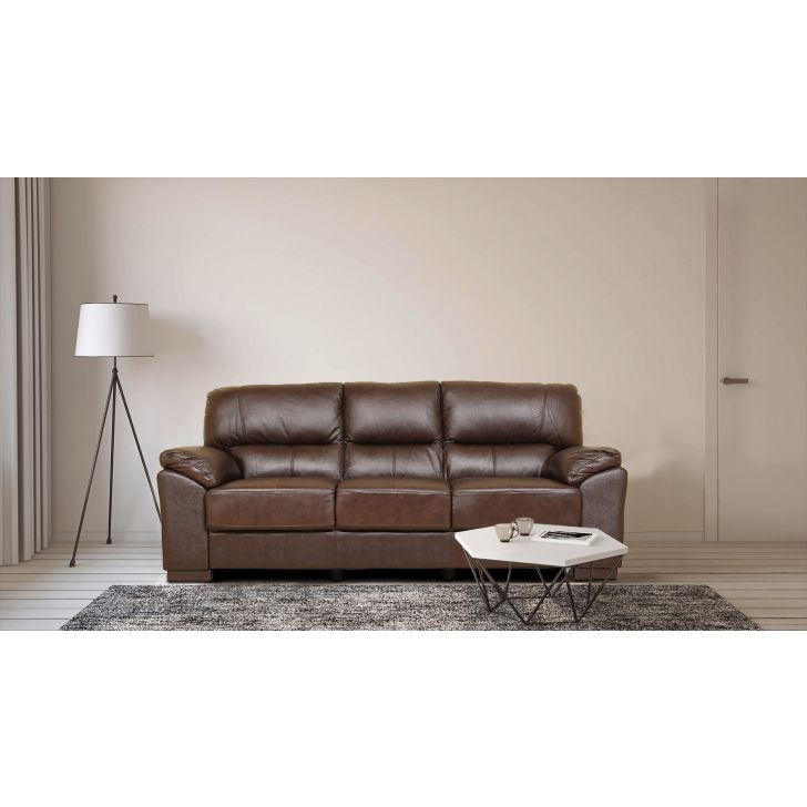 Martin Half Leather Three Seater Sofa,Three Seater Sofas