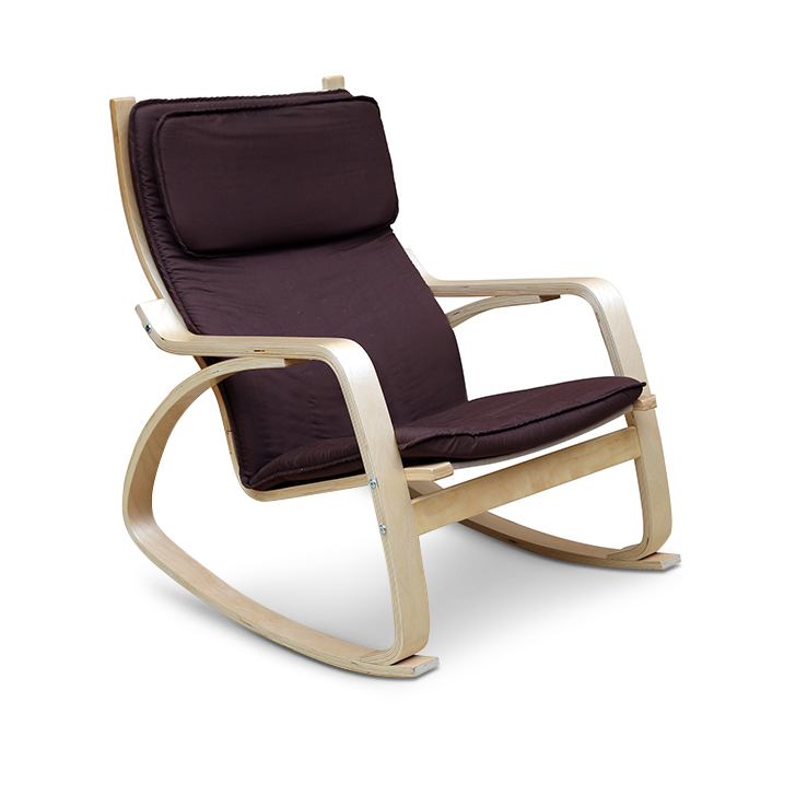 Vita Rocking Chair With Brown Cushion,Chairs