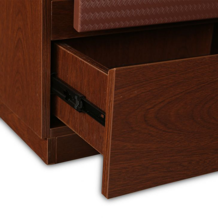 Houston Bed Side Table in Walnut Finish,Bedside Tables