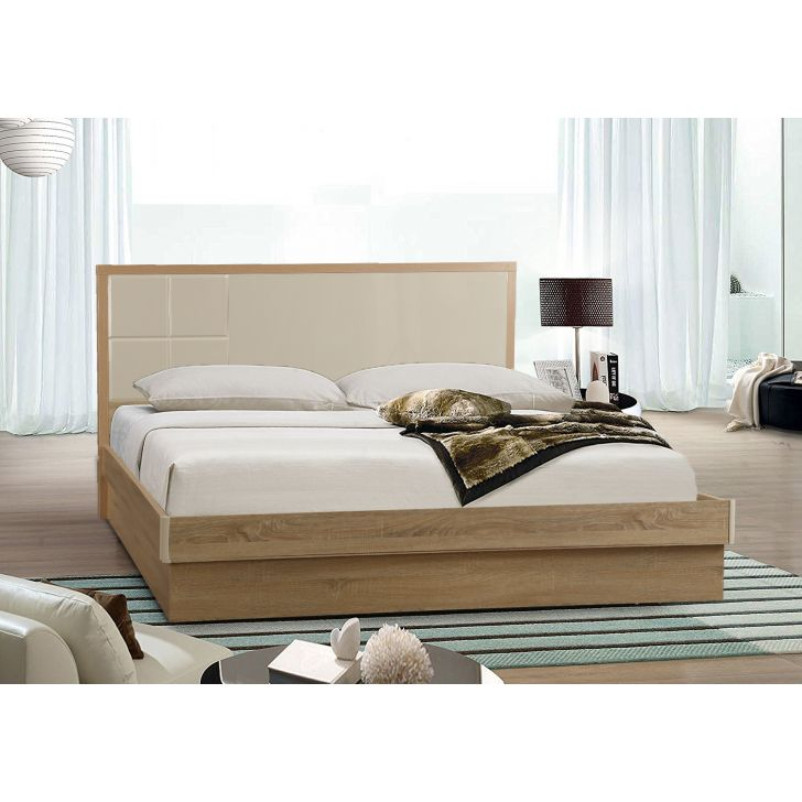 Geo Queen Bed With Hydraulic Storage,All Beds
