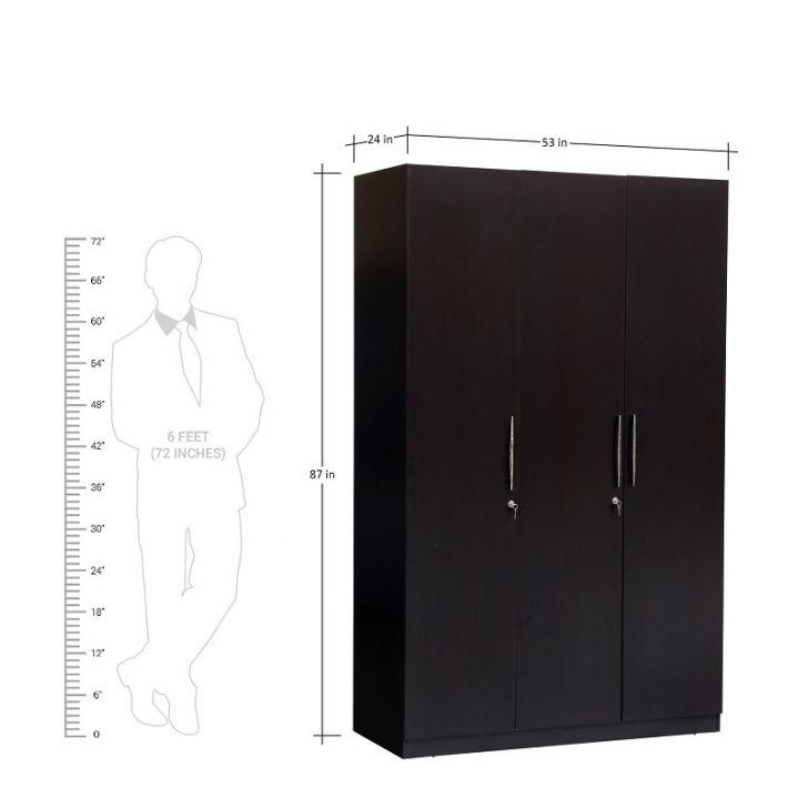 Mozart 3 Door Wardrobe,Wardrobes