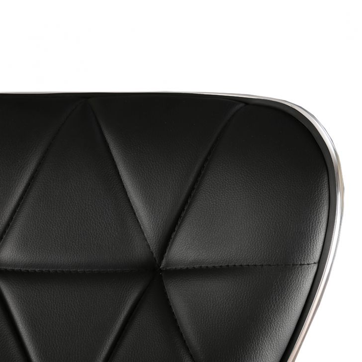 Miley Bar Stool in Black Leatherette,Swivel