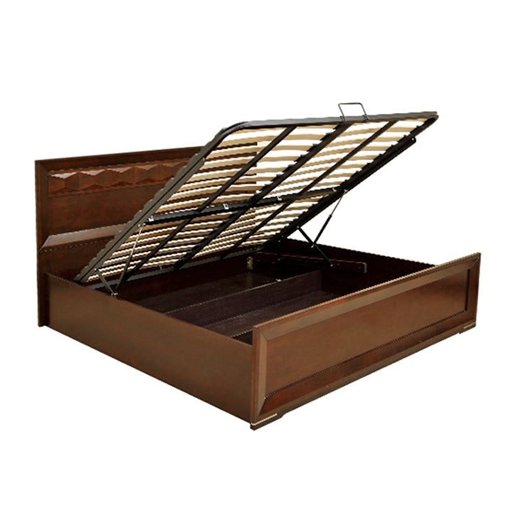 Amelia Queen Size bed in rubber wood with Hydraulic Storage,Hydraulic Beds