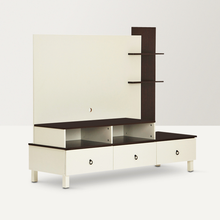 Lauren Wall Unit White And Walnut,Wall & Entertainment Units