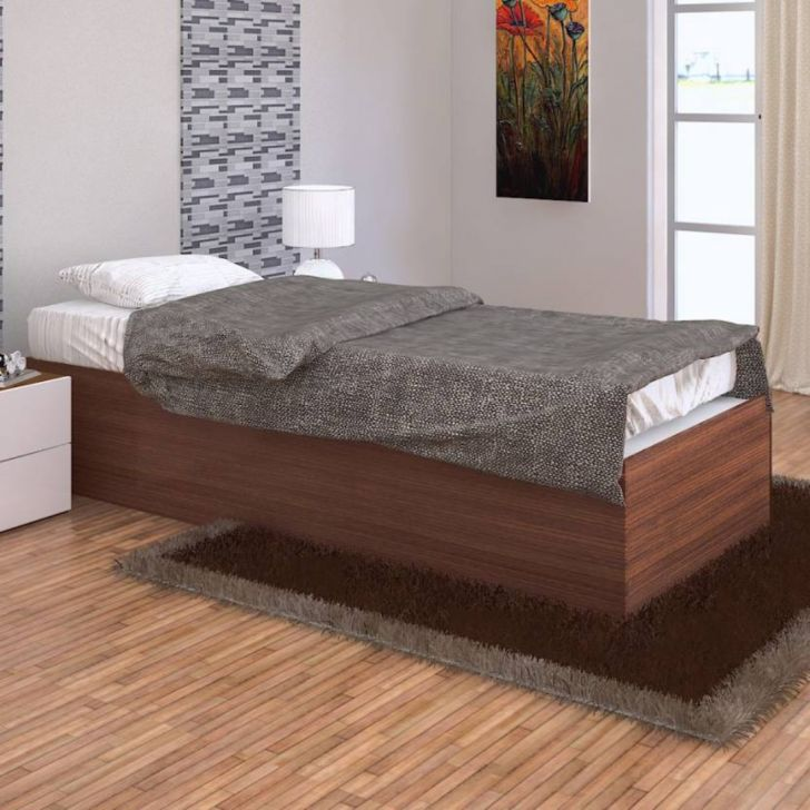 Ria Single Bed with Box Storage in Wenge Finish,All Beds