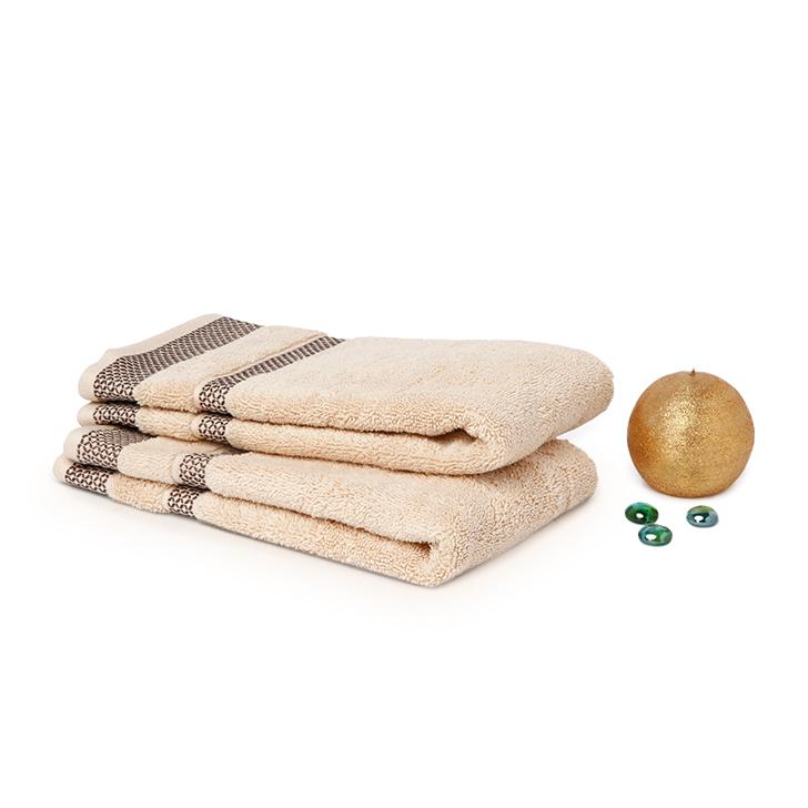 Spaces Hygro Cream Cotton Hand Towels 2 Pcs,Hand Towels