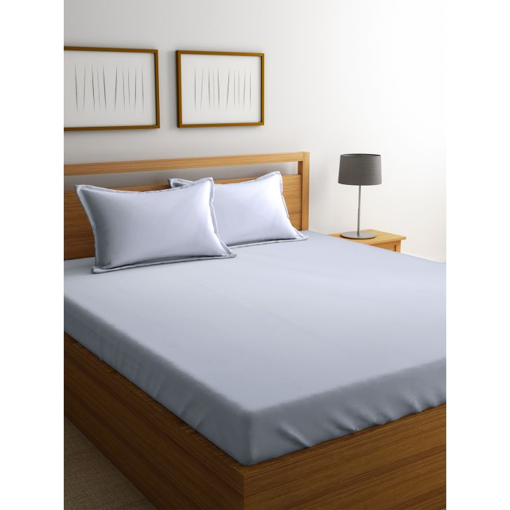 Portico Percale Bedsheet Ivory,Double Bed Sheets