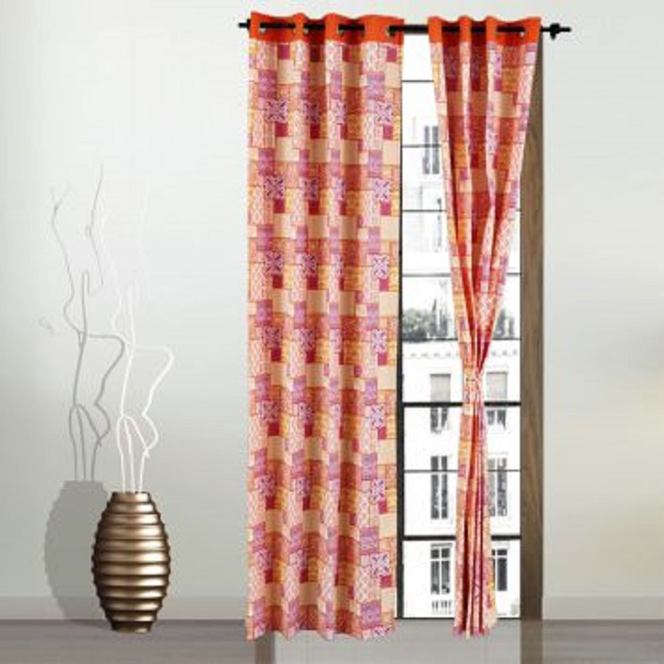 Living Essence Window Curtain Rio Patchwork Fuchsia,Curtains