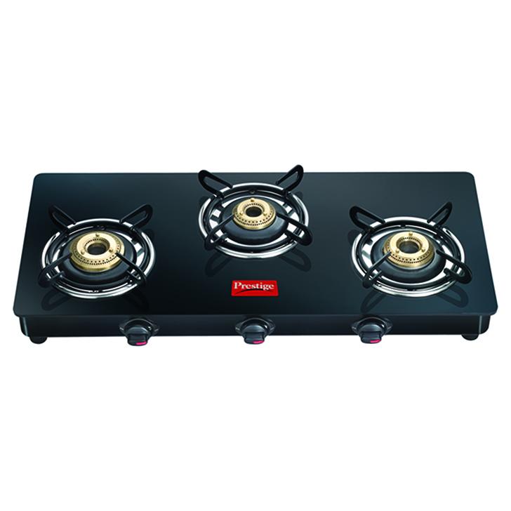 Prestige 3 Burner Gas Stove Black,Cookware