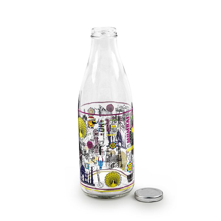 Living Essence ZES India Milk Bottle 1 Ltr,Bottles