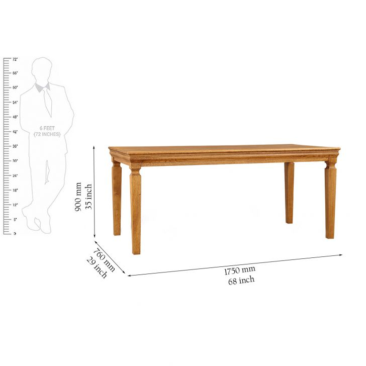 Denver Solidwood 6 Seater Dining Table,6 Seater Dining Table
