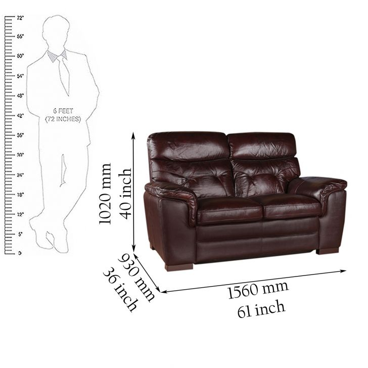 Bradley Half Leather Two Seater Sofa,Sofas & Sectionals