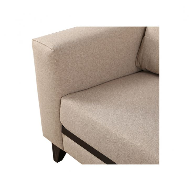 Garcia Fabric Three Seater Sofa Beige,Three Seater Sofas