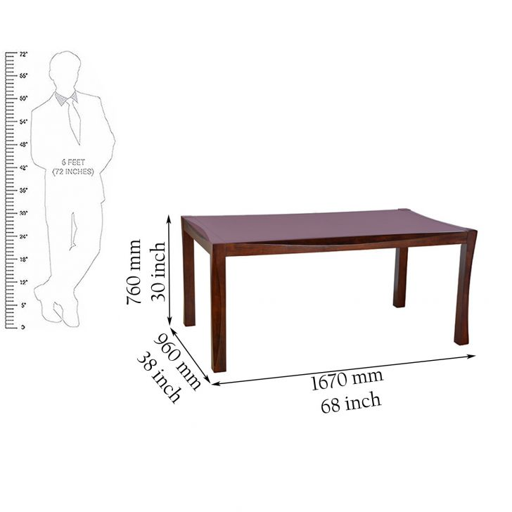 Parker Solidwood 6 Seater Dining Table,Dining Room Furniture