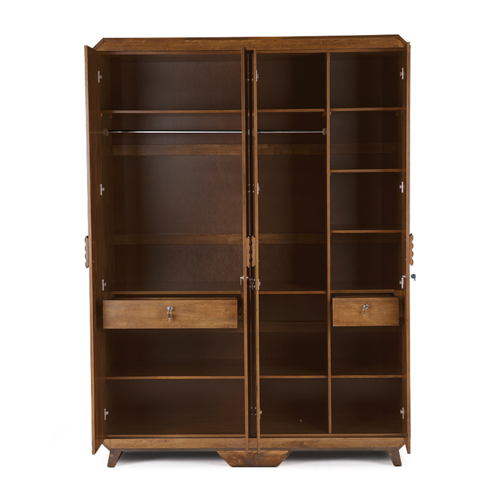 Sterling Four Door Wardrobe in Brown Colour,All Wardrobes