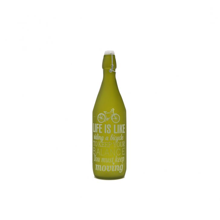 Lime Quoted Frosted Bottle 1L,Bottles