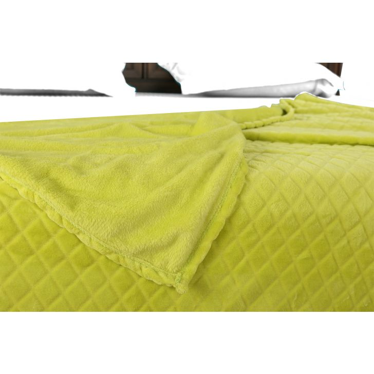 Fleece Blanket 160X220 Diamond Lime,Quilts/Blankets