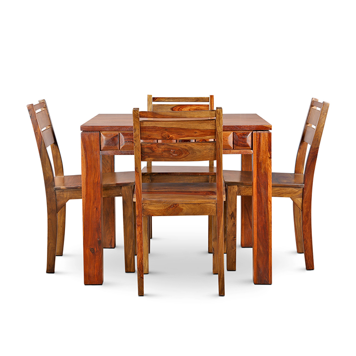 WOODROW SOLIDWOOD 4 SEATER DINING TABLE,4 Seater Dining Table