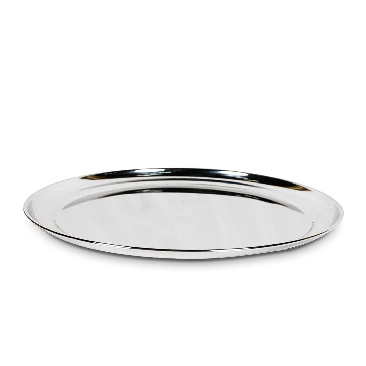 Living Essence Stainless Steel Silver Rajbhog Plate,Plates