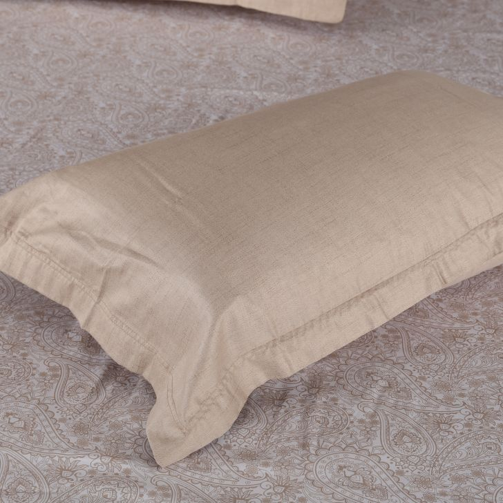 Amour Double Bed Sheet Set Beige,Double Bed Sheets