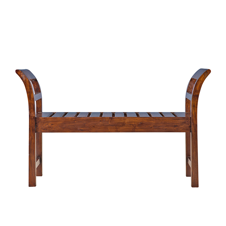 Adora Bench in Chestnut Finish,Benches