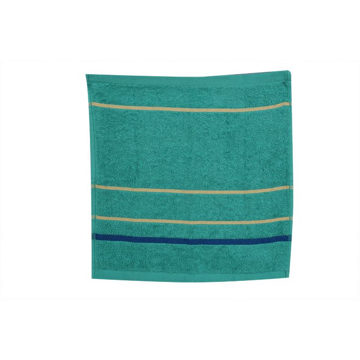 Emilia Face Towel Butterscotch & Teal Set of 4,Face Towels