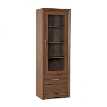 quick view stark storage small cabinet walnut