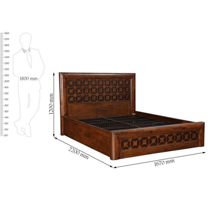 Casablanca Queen Bed W Hydraulic Storge,Hydraulic Beds