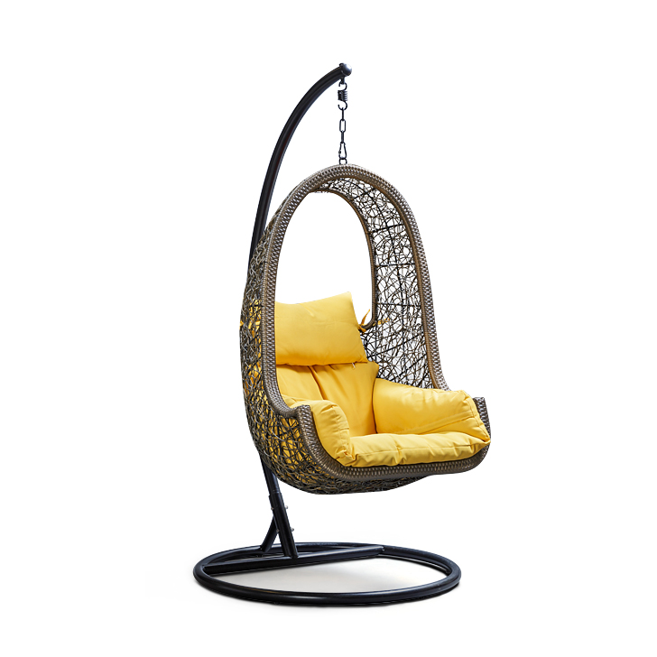 Buy Juniper Swing with Stand & Yellow Cushion Online in