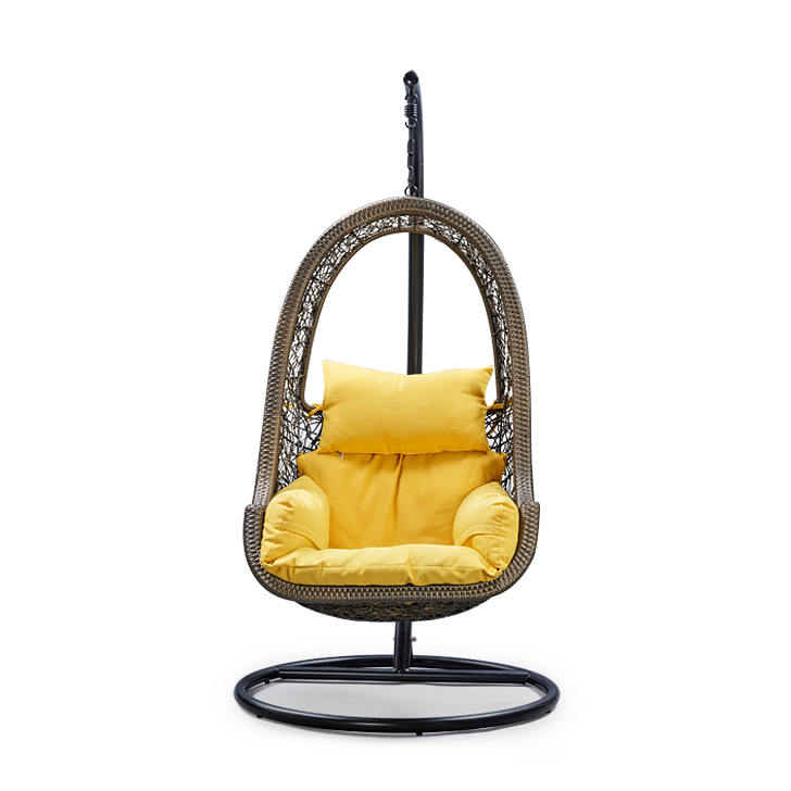 Juniper Swing with Stand & Yellow Cushion,Swings