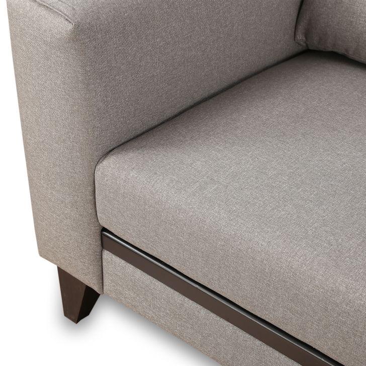 Garcia Fabric 3 Seater Sofa Grey,Sofas & Sectionals