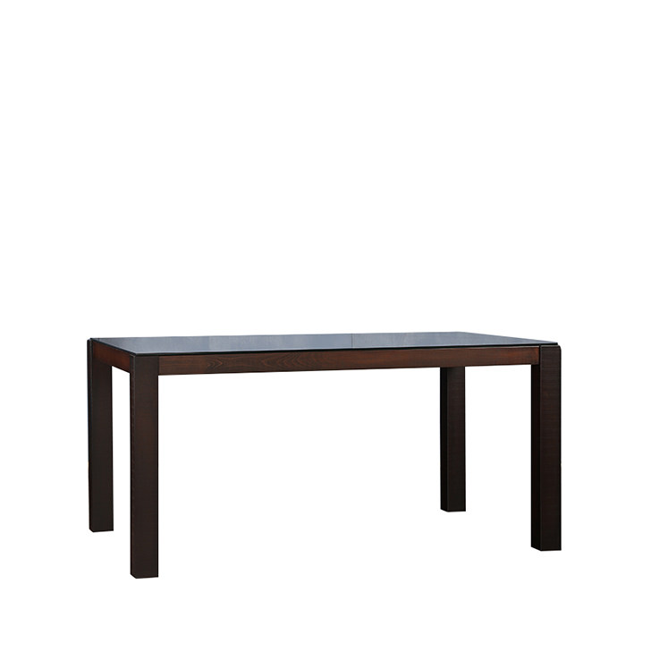 Carlton Six Seater Dining Table with Glass Top in Burn Beech Finish,6 Seater Dining Table
