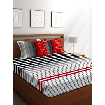 proddetail multi size red sheets texture cotton bed king pure organic colored and daisey