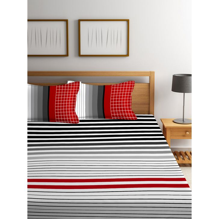 Double Bedsheet French Gold Midnight Rouge,King Size Bed Sheets
