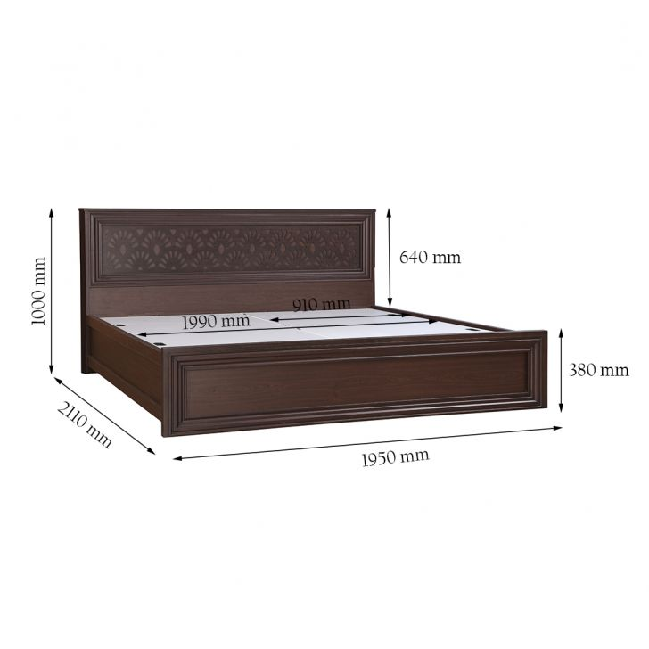 Savana King Bed With Box Storage,All Beds