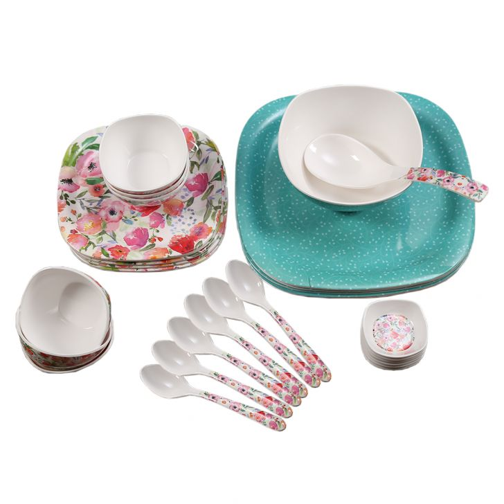 Living Essence Blossom 32 Pcs Dinner Set,Dinner Sets