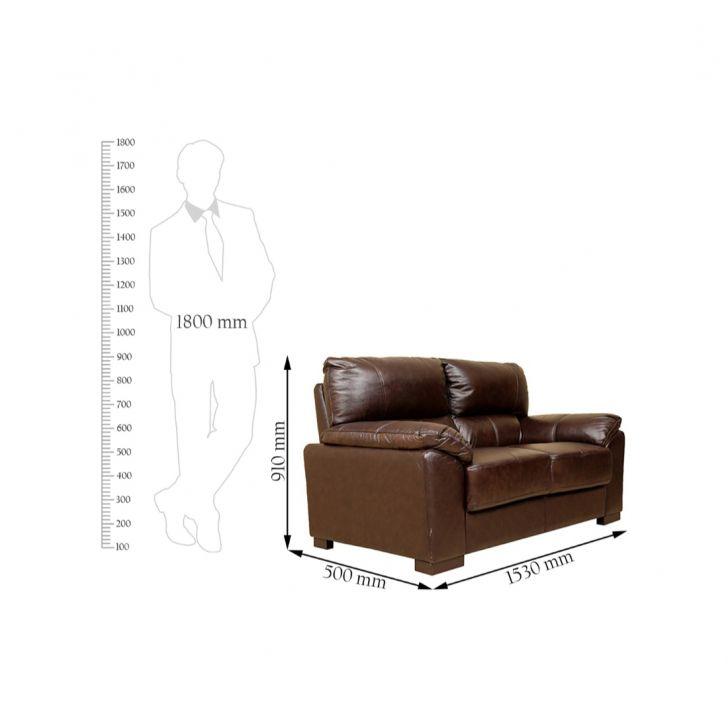 Martin Half Leather Two Seater Sofa,All Sofas
