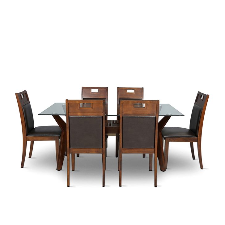 Buy Wesco Six Seater Dining Set Oak And Espresso Online In India