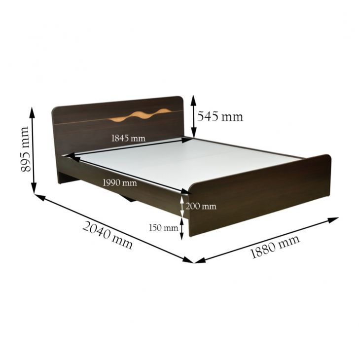 Swirl King Bed Without Storage,Mega Independence Day Sale
