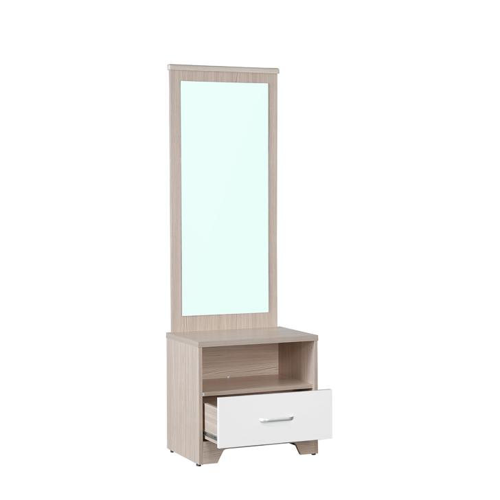 Ambra Dressing Table with Full Mirror in White Colour,Dressing Tables